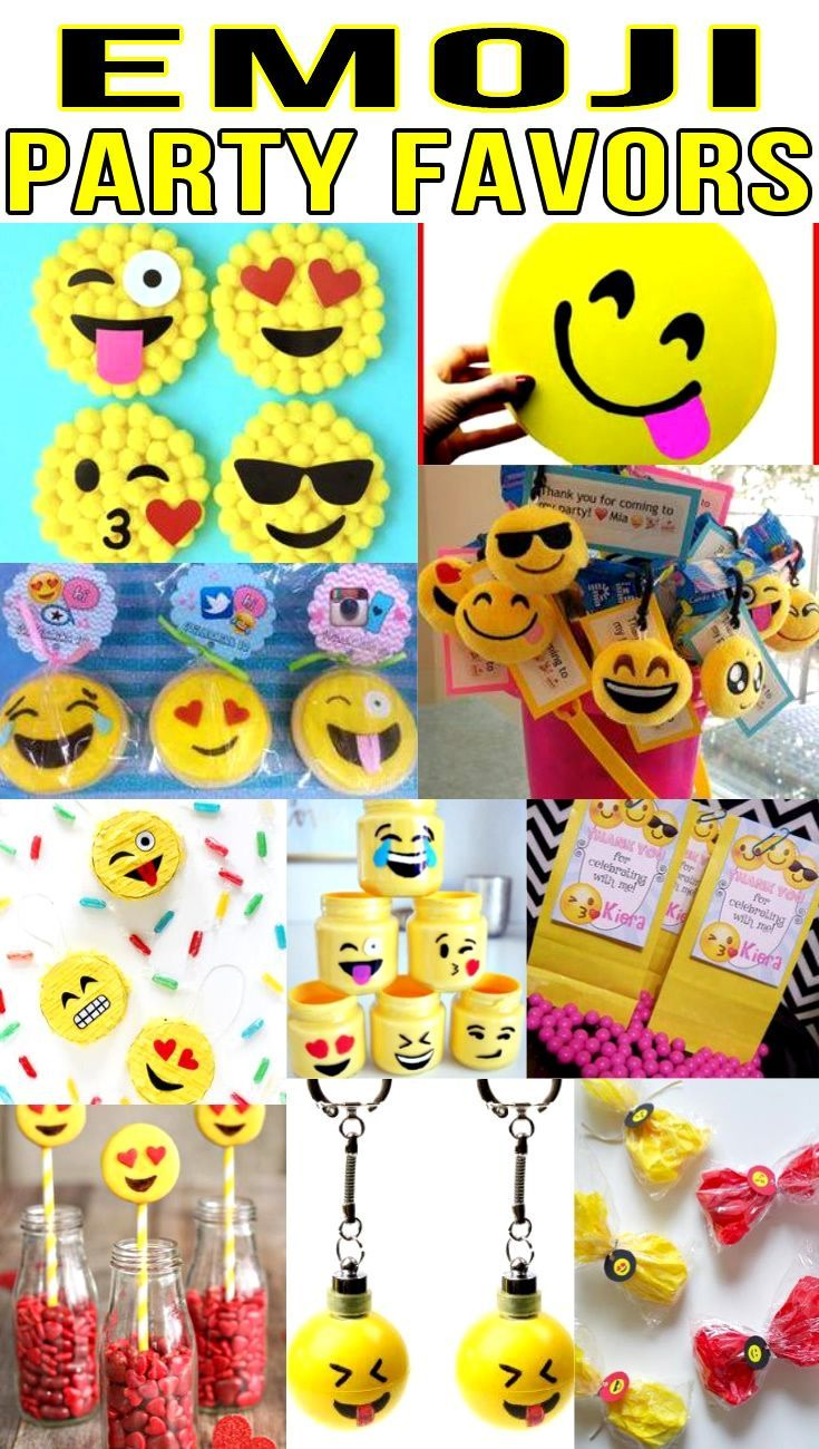 Emoji Party Favors Birthday Bags Goodie Bag More Ideas Get The Best For Boys And Girls A Bday Or