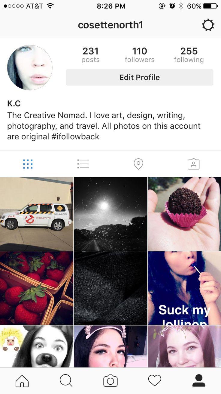 Follow me on Instagram @ cosettenorth1
