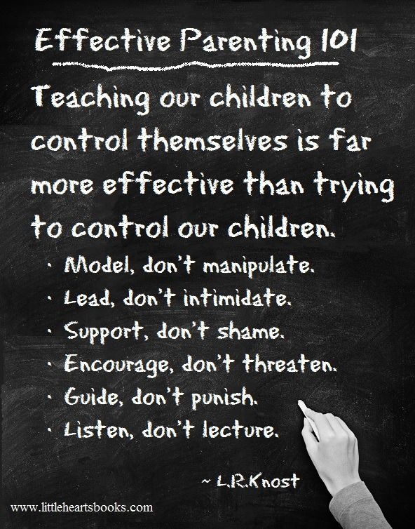 Effective Parenting 101. Teaching our children control.