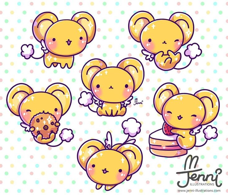 Bunch of keros ☺ . . . #kero #cardcaptor #cardcaptorsakura #magicalgirl #jennilustrations