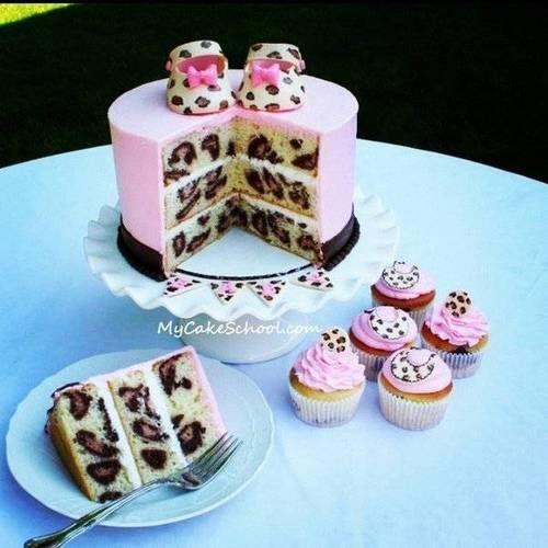 Leopard Print Cake Decalz - Tanie M | Lockerz