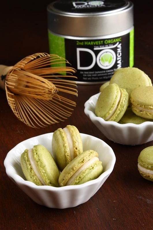 How to Make Matcha Green Tea Macarons | Macarons | Pinterest