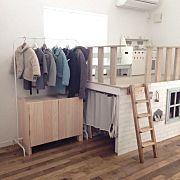 Lounge,DIY,キッズコーナー DIY ,IKEAハンガー,IKEAハンガーラック,ランドセル収納ロッカーに関連する他の写真