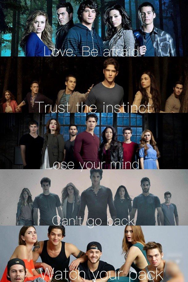 The pack all throughout #teen wolf