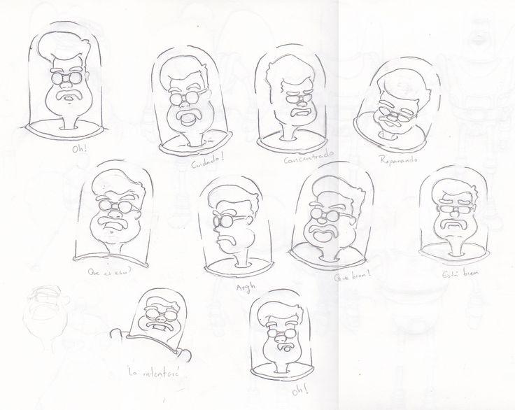 Exploración de expresiones faciales / Mecánico espacial.