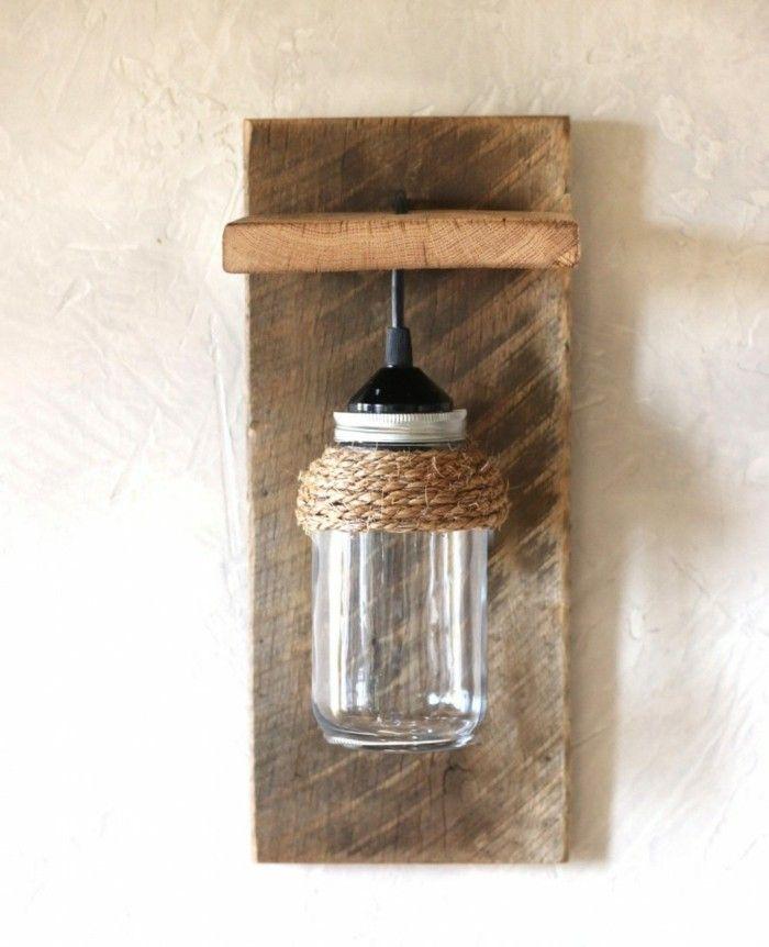 Ausgefallene Lampen Diy Einmachglas Rustikale Wanddeko