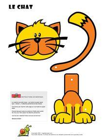 Poes knutselen / Découpages Animaux pour enfants