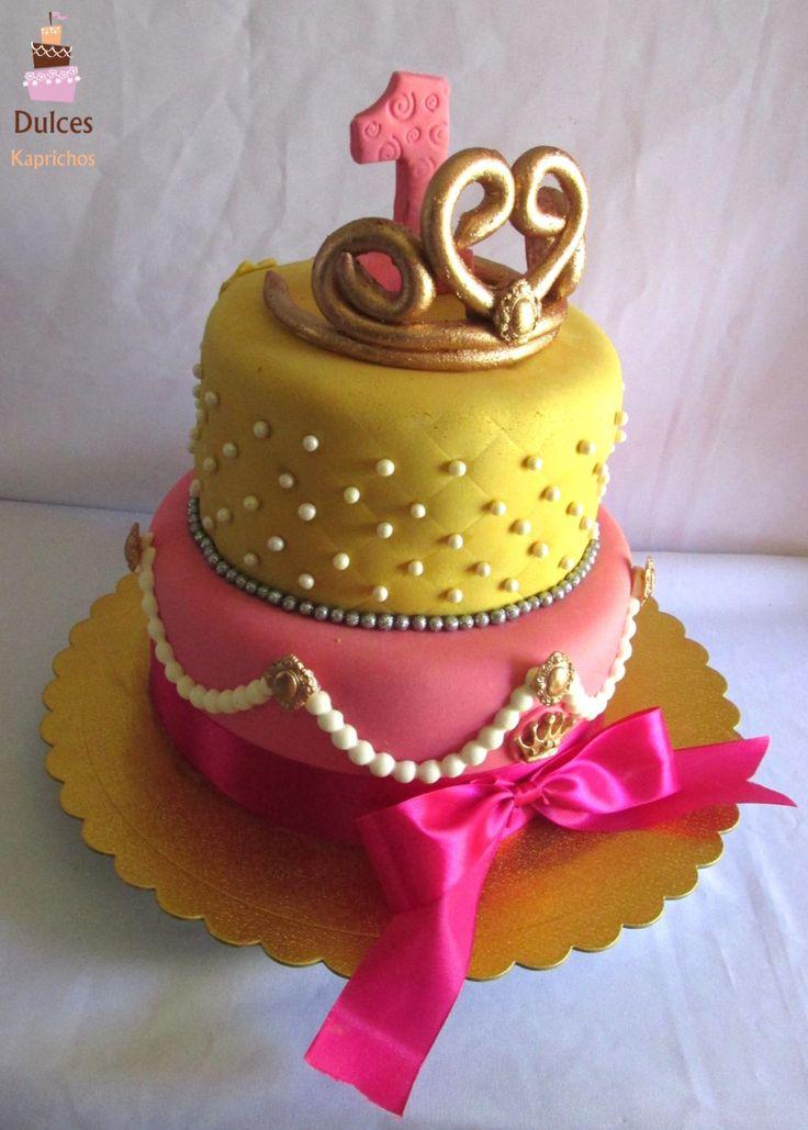 Torta Primer Añito #TortaCorona #TortaPrincesa #DulcesKaprichos