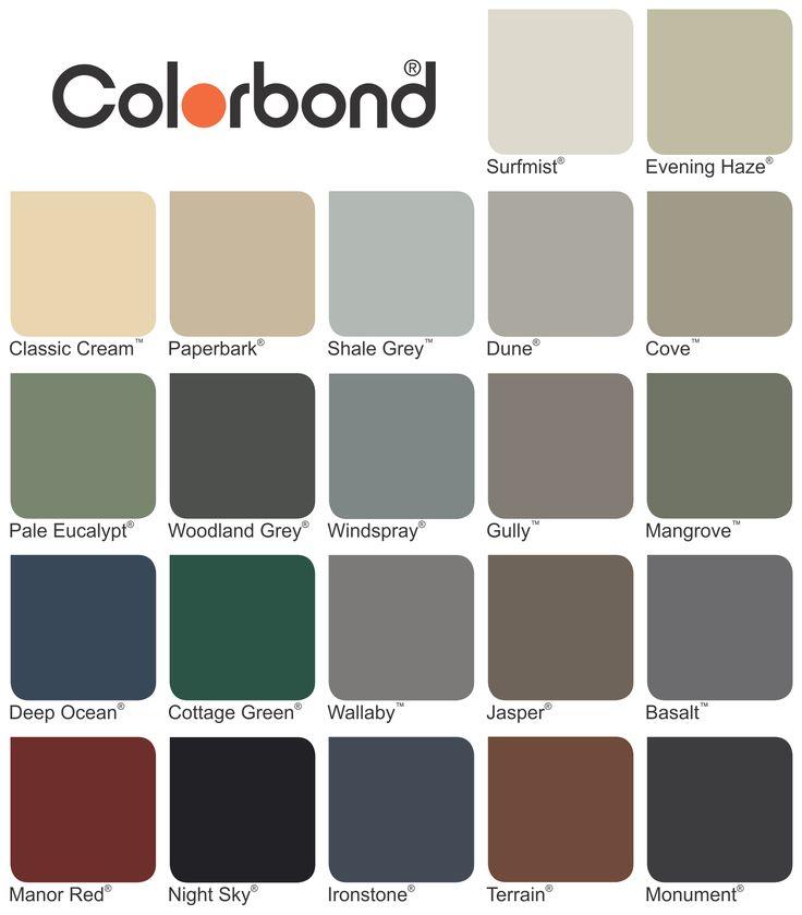 colorbond colours - Google Search