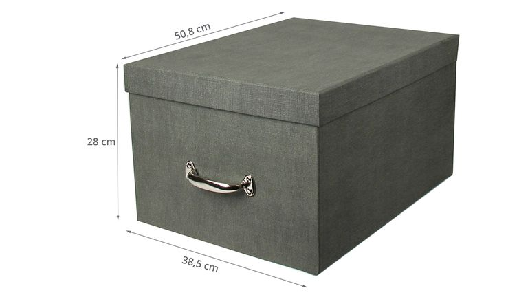 Conteneur pour 5 boîtes à archives - carton gris