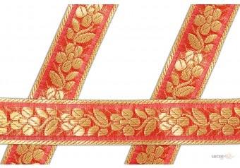 25 mm Gold , Orange Color For Decoration , Garments , Gifting Packing , Kurti , Salwar Kameez , Saree , Saree Border # 001202