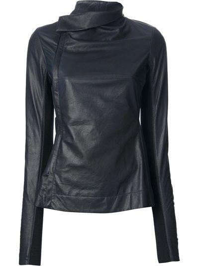 RICK OWENS - stylised biker jacket 7