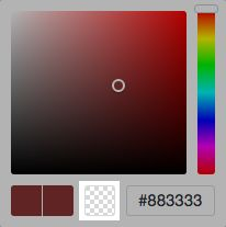 Color picker transparent