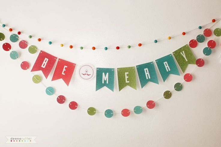 Let the holiday cheer begin!  To celebrate my new digital release the BE MERRY COLLECTION, I am giving you this fun and easy DIY garland banner. To download the file here: Download Drutter-Be Merry Banner. Just download the file, print on white cardstock, cut it out, poke some holes, and string it up!  I used…