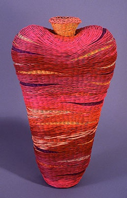 Herman Guetersloh | 'Allure' Double Walled Basket, Aniline Dyed Reed
