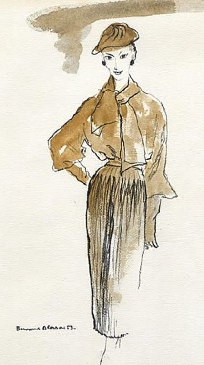 by Bernard Blossac, 1953, Christian Dior Couture.