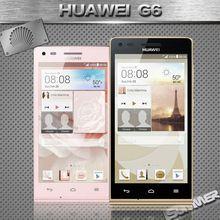 Original Huawei Ascend G6 teléfonos celulares Qualcomm MSM8212 Quad core 1 GB RAM 4 GB ROM 8.0MP android 3 G WCDMA teléfono móvil inteligente