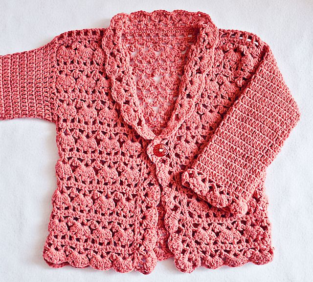 Ravelry: Harriet Lace Cardigan pattern by Mon Petit Violon $4.99