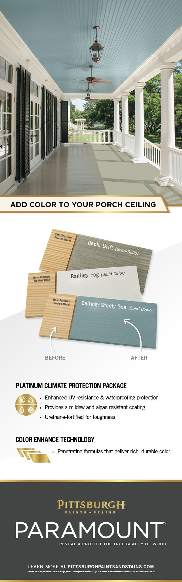Minwax gel stain colors home depot wood stains color chart car tuning - Your Porch Ceiling Deserves Protection And A Pop Of Color