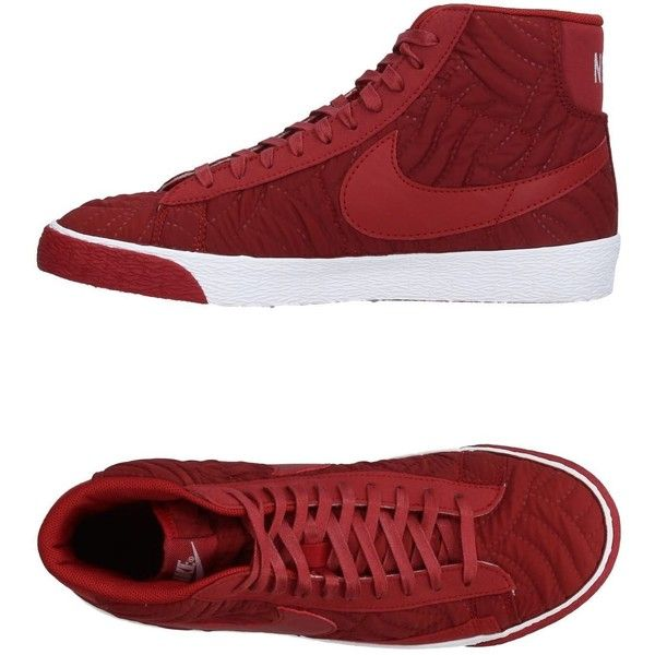 Nike High-tops & Sneakers ($135) ❤ liked on Polyvore featuring shoes, sneakers, cocoa, high top shoes, flat footwear, flat sneakers, nike sneakers and nike