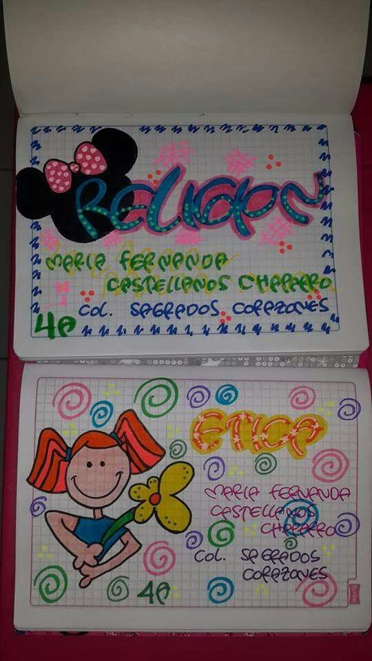 Letras De Decoracion Para Cuadernos ~   Pinterest  Como marcar cuadernos, Cuadernos y Decoracion de cuadernos