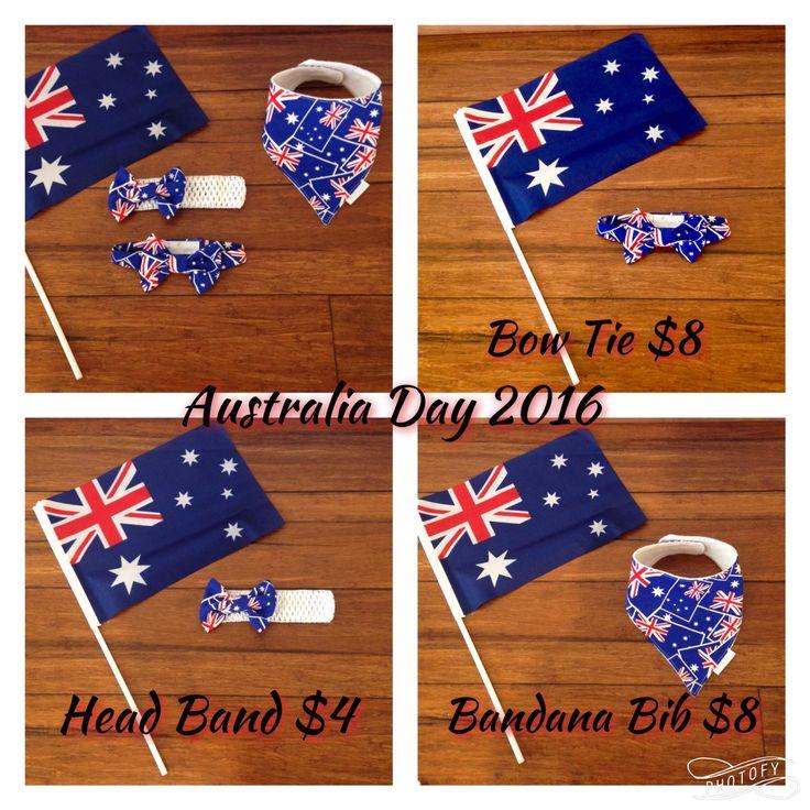 Australia Day Custom orders close 16/01/16  http://www.myliltreasures.com.au/