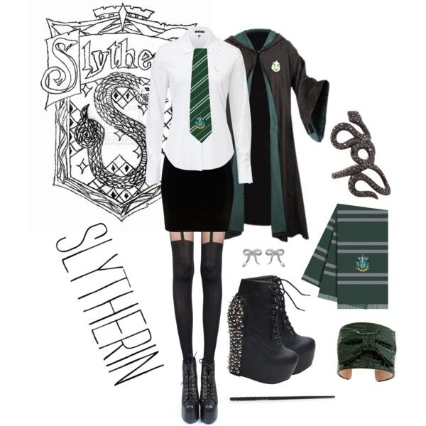 U0026quot;Hogwarts Uniform- Slytherinu0026quot; by neonballrooms on Polyvore | Floo Powder Power! | Pinterest ...