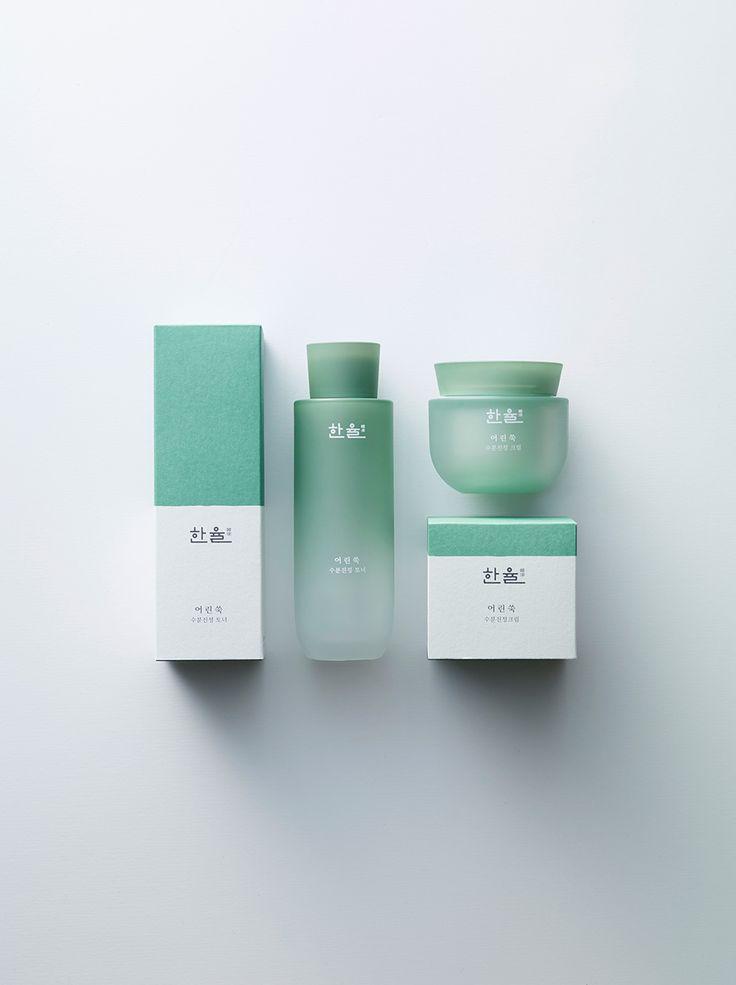 霧面漸層的湖水綠 韓國保養品包裝 | MyDesy 淘靈感