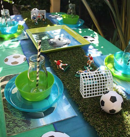 Soccer theme party hire package for kids boys and girls in Perth