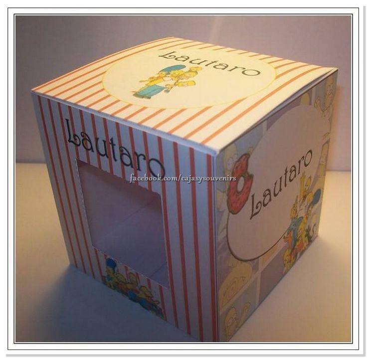 Caja para cupcakes con los simpson
