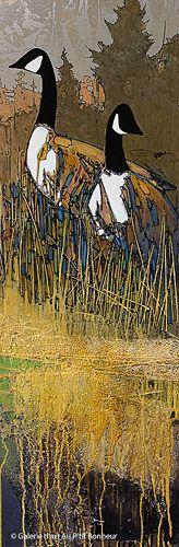 Jean-Pierre Guay, 'Le couple', 15'' x 45'' | Galerie d'art - Au P'tit Bonheur - Art Gallery