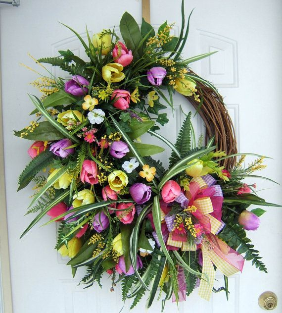 17 Best Images About Beautiful Spring Summer Door Wreath