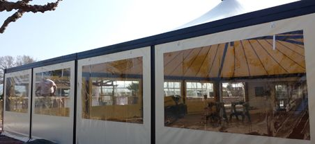 B ches de fermeture pour terrasses toiles b ches soudure for Bache terrasse transparente