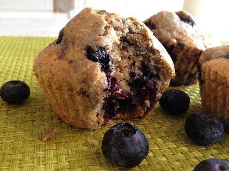 Muffins au son d'avoine et aux myrtilles (IG bas)