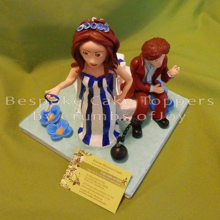 Bespoke #Wedding #CakeTopper by Crumbs of Joy