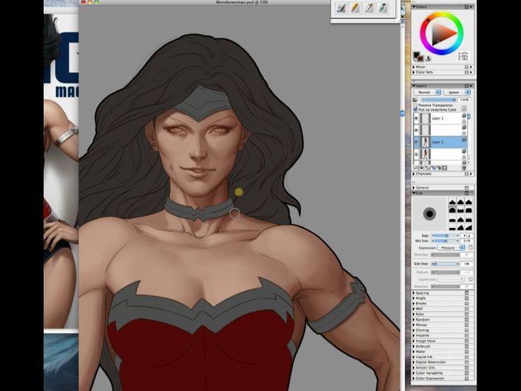 Digital Painting Oct-Nov 2012 on Livestream