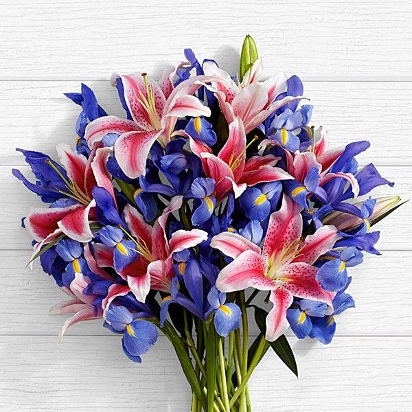 Deluxe Joyful Bouquet Iris Flowers Flowers For Mom Flowers Delivered