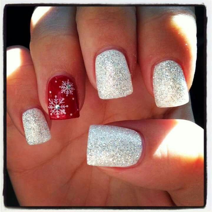 Snow flake /  Christmas  /  Holiday nails