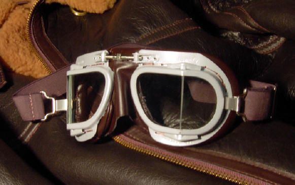 Vintage aviation goggles turned winter cycling gear.  Winnipeg wind and snow, we're ready.    http://www.spitcrazy.com/goggles.htm