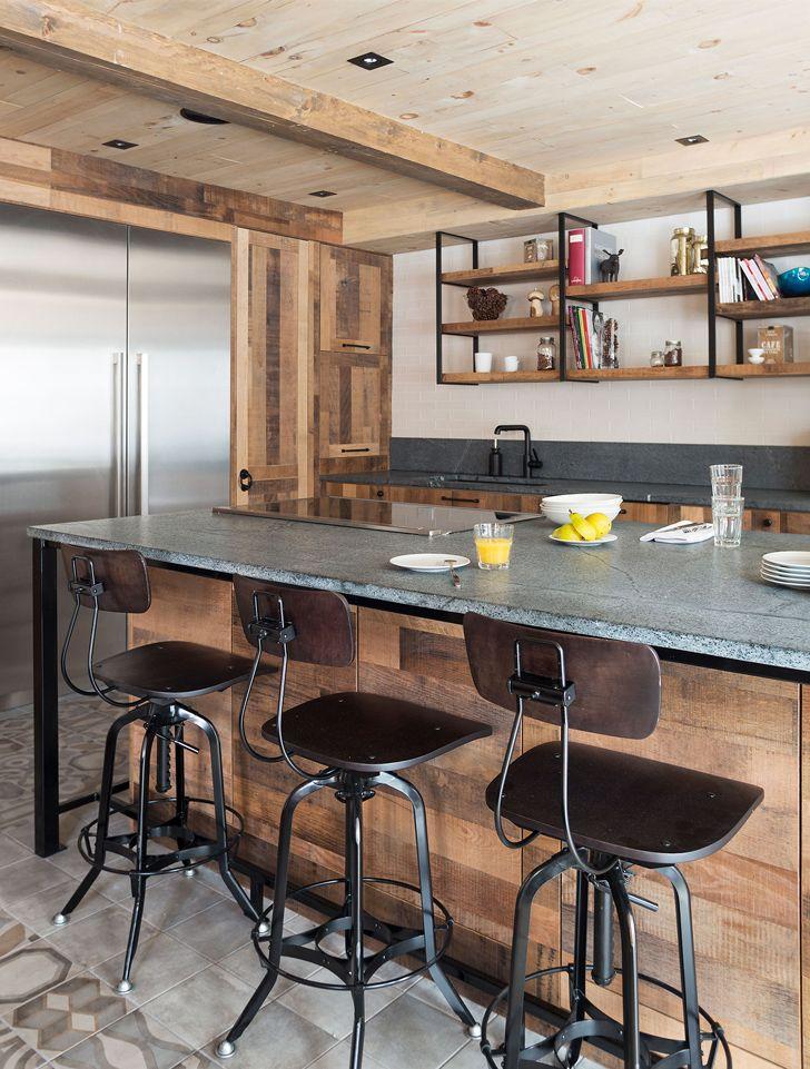 Грубая деревянная кухня шеф-повара | Пуфик - блог о дизайне интерьера