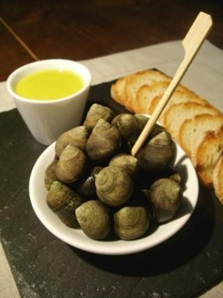 recette Bigorneaux sauce wasabi et huile de pistache...