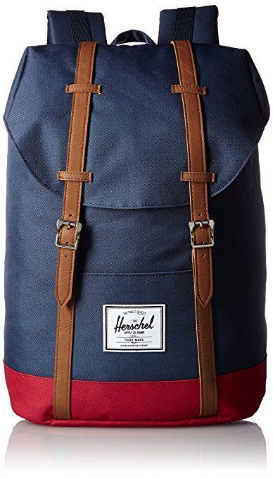Herschel Supply Company SS16 Casual Daypack, Zaino, Multicolore (Navy/Red/Tan), Taglia 19.5 Litri