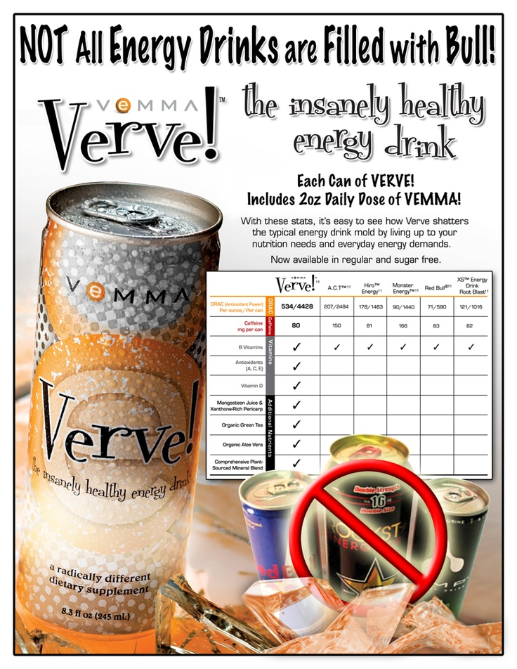 Do you know what's in your energy drink? Verve has all the ...