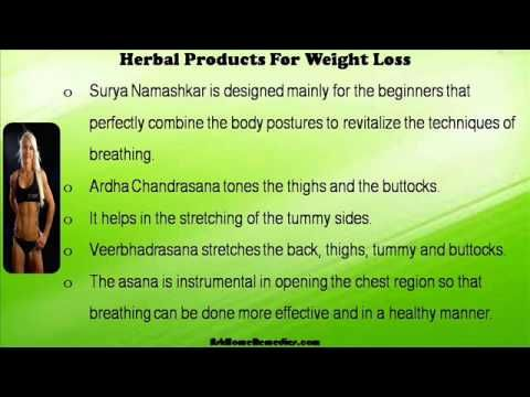 This video describes about yoga and herbal products for weight loss in an effective manner. You can find more detail about Slim-N-Trim capsules at http://www.askhomeremedies.com