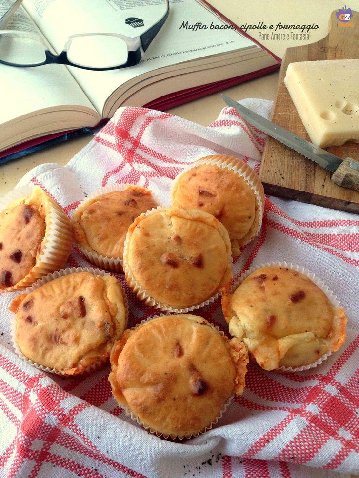 Muffin bacon, cipolla e formaggio   Pane Amore e Fantasia!