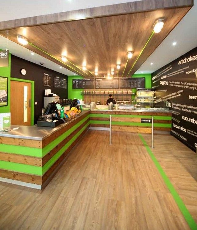 Offering a wide variety of designs, from earthy and realistic wood effects to bright primary colours, Forbo Flooring's Eternal range of general purpose vinyl has helped to create a fresh and natural looking interior design at a striking new healthy-eating fast-food outlet in Liverpool City Centre.