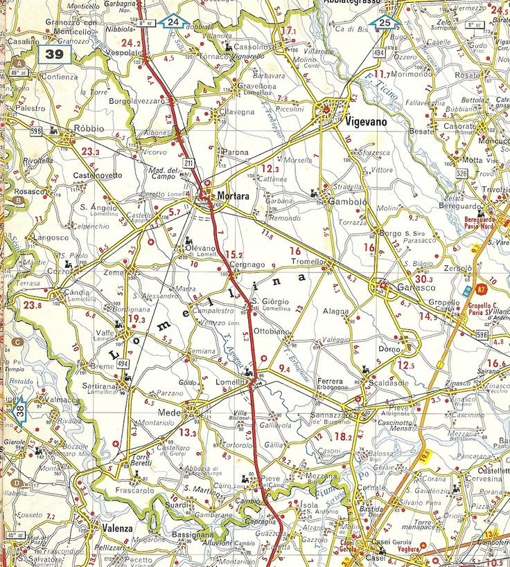 Ecomuseo del Paesaggio Lomellino - mappa della Lomellina