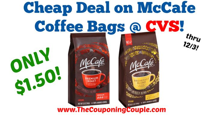 Quick & Easy deal this week! Be sure to print your coupons before they are no longer available! Cheap Deal on McCafe Coffee Bags @ CVS!  Click the link below to get all of the details ► http://www.thecouponingcouple.com/cheap-deal-on-mccafe-coffee-bags-cvs/ #Coupons #Couponing #CouponCommunity  Visit us at http://www.thecouponingcouple.com for more great posts!