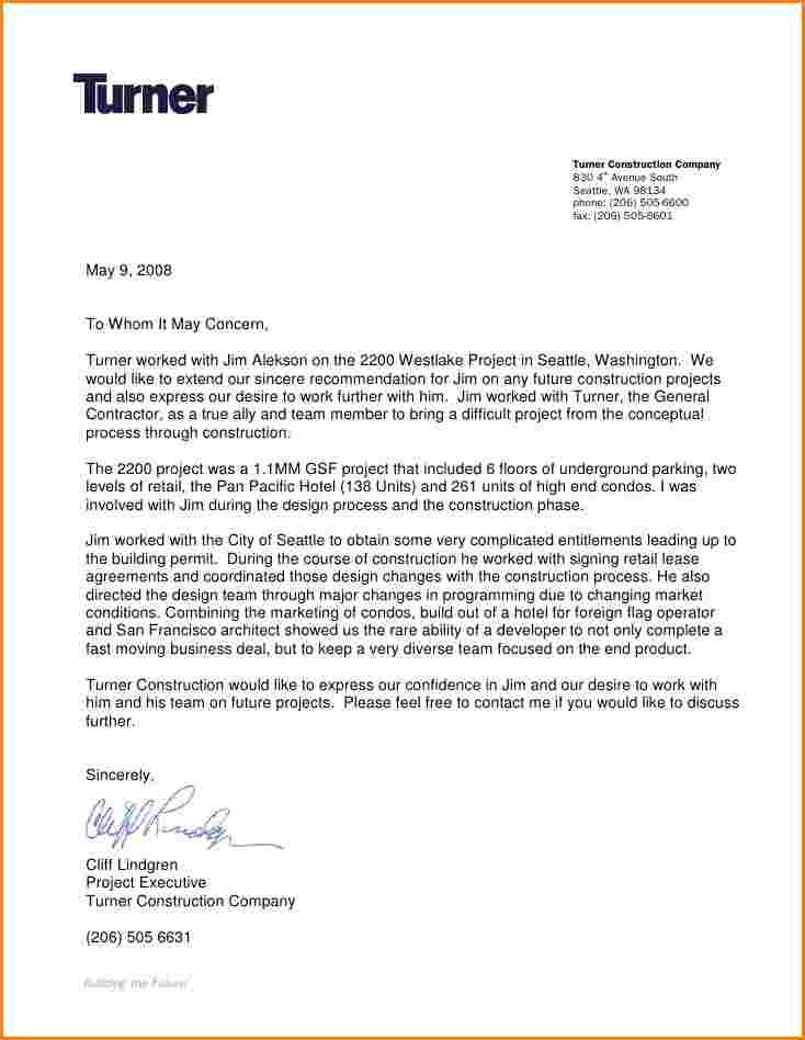 Fresh General Letter Of Recommendation Sample Download With