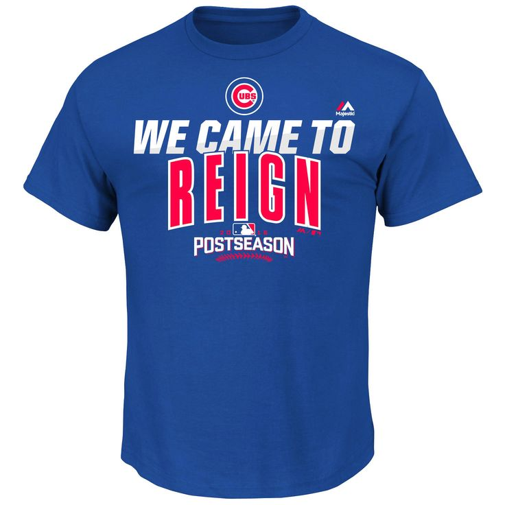 Chicago Cubs Majestic 2016 Postseason Authentic Collection We Came to Reign Big & Tall T-Shirt - Royal - $19.99